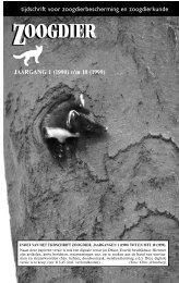 ZOOGDIER ZOOGDIER - De Zoogdiervereniging
