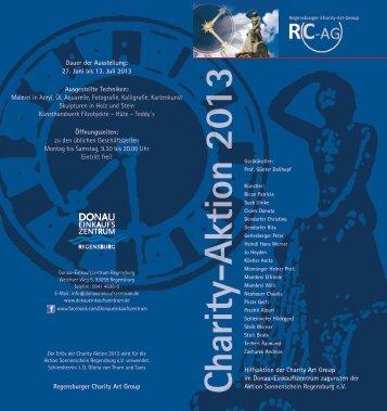 DEZ Charity Einladung 2013 - Regensburger Charity Art Group eV