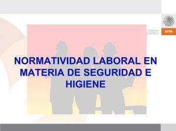normatividad laboral en materia de seguridad e higiene