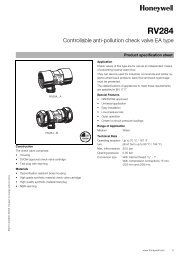 Controllable anti-pollution check valve EA type - Automatikcentret