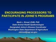 Washington State's JD Program to Encourage Producer Participation