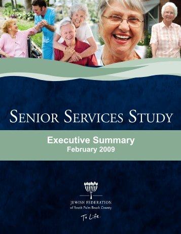 senior services study - Jewish Federation of South Palm Beach County
