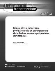 (CP) français - Base de données en alphabétisation des adultes