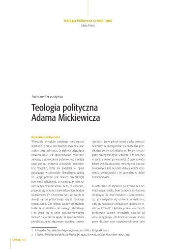 Teologia polityczna Adama Mickiewicza