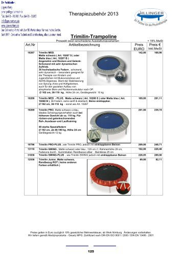 126 Trimilin - VILLINGER Produkte bei ppm-marburg