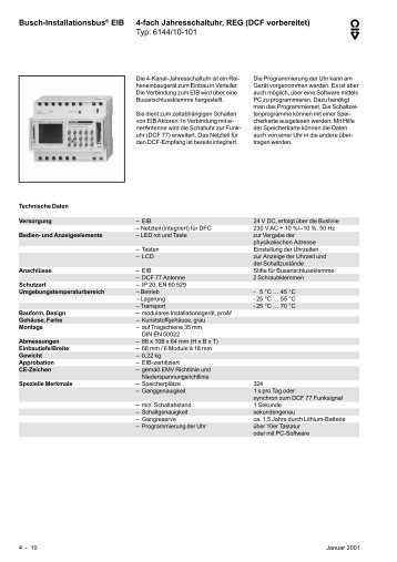 Typ: 6144/10-101 - BUSCH-JAEGER Katalog