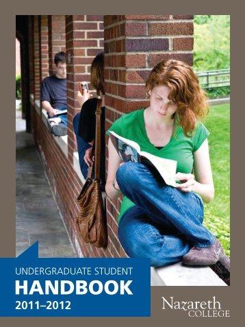Nazareth College Undergraduate Student Handbook 2011-2012