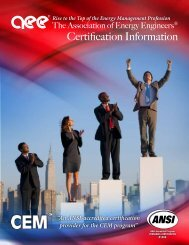 to View Certification Brochure (PDF) - Association of Energy Engineers