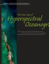 The new age of hyperspectral oceanography - Cal Poly Center for ...