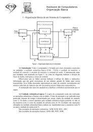 Organização Básica de Um Sistema de Computador