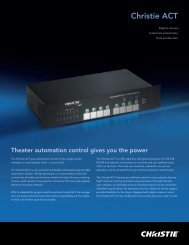 Christie ACT Brochure - Christie Digital Systems