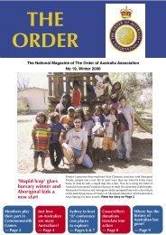 The Order Winter 2006 - Order of Australia Association