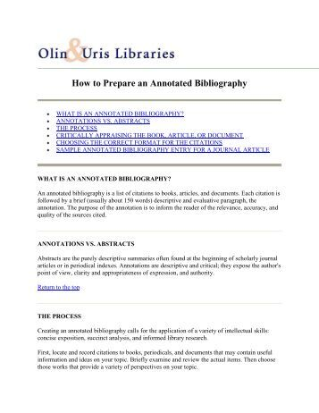 How to prepare bibliography