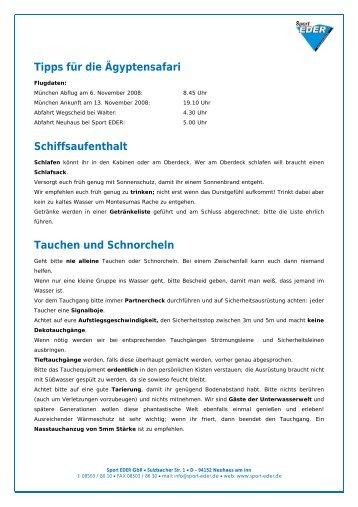 Vorsicht: Dehydration - Tauchshop-online.de