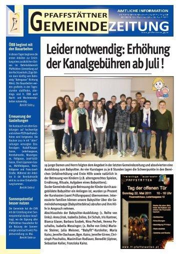 Gemeindezeitung April 2011 - Pfaffstätten