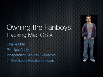 Hacking Mac OS X - Black Hat