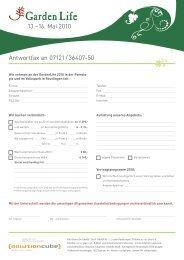Antwortfax an 07121/36407-50 13.–16. Mai 2010 - reutlingen-messe ...