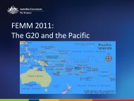 The G20 and the Pacific - Pacific Islands Forum Secretariat