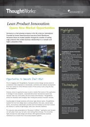 Lean Product Innovation - ThoughtWorks