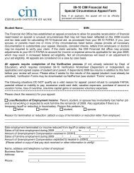 09-10 CIM Financial Aid Special Circumstance Appeal Form