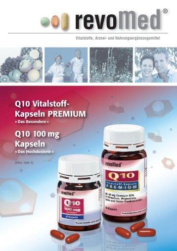 Q10 Vitalstoff- Kapseln PREMIUM Q10 100 mg Kapseln