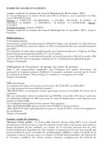 Télécharger le CR du CM du 20-12-2012 - Gigors & Lozeron