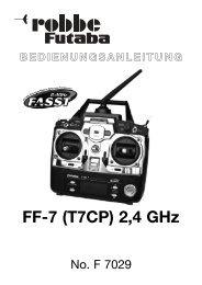 FF-7 2,4 GHz-Deutsch:FF-7-Deutsch.qxd.qxd - Modellhelischule