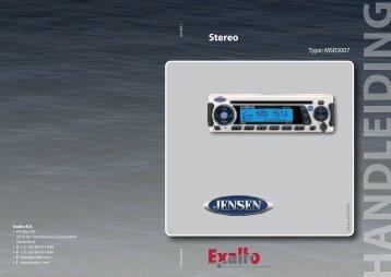 Handleiding Jensen MSR3007 - Exalto