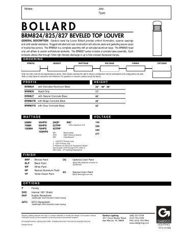BOLLARD   Architectural Lighting Associates (ALA, Inc.)