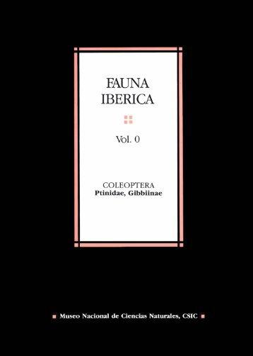 Versión electrónica - Fauna Ibérica - Consejo Superior de ...