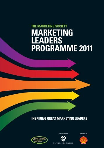 Marketing Leaders Programme 2011 Brochure - Brand Learning