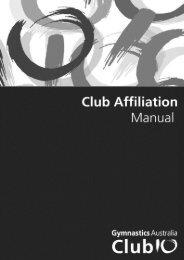 Club Affiliation Manual - Gymnastics Australia