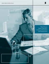 What Women Want in Business: A Survey of Executives and ...