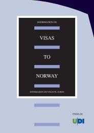 VISAS TO NORWAY - UDI