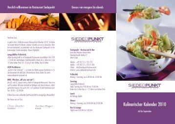 Kulinarischer Kalender 2010 - Siedepunkt