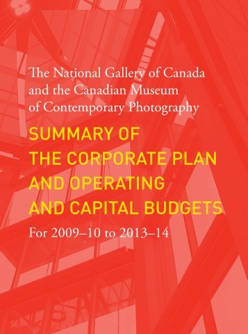 summary of the corporate plan and operating and capital budgets