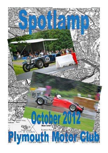 spotlamp October 2012 - Plymouth Motor Club