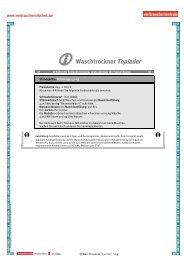 ① Waschtrockner Toplader о - Verbraucherinfothek