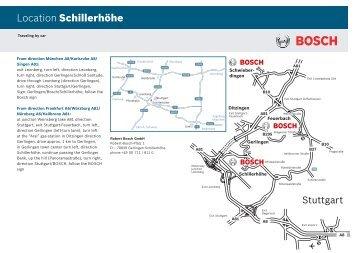 Location Schillerhöhe - Bosch-Kalibrierdienst