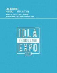 Exhibitor's Manual + Application - Iowa Dental Laboratory Association