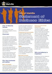 Statement of Business Ethics - City of Melville
