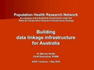 Population Health Research Network - National Statistical Service
