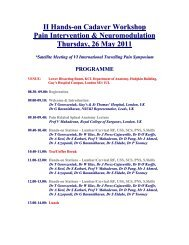 Hands-on Interventional Cadaver Workshop, 24 May 2008