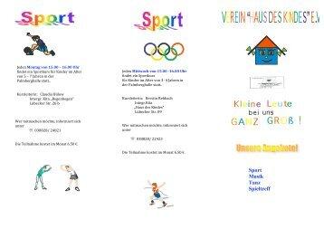 Sport Musik Tanz Spieltreff - Verein Haus des Kindes  eV