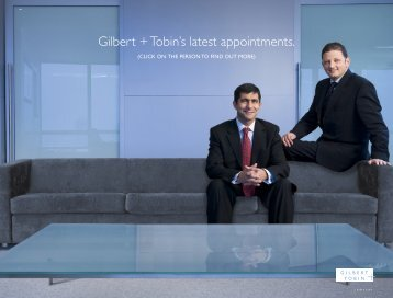 Gilbert + Tobin's latest appointments.
