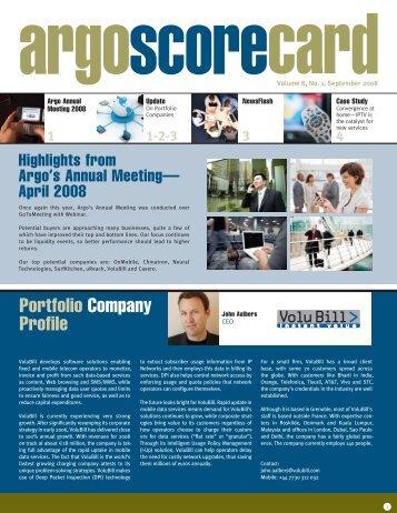 Portfolio Company Profile - Argo Global Capital