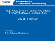 US Route 58/Martin Luther King (MLK) - Commonwealth ...