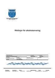Riktlinjer för alkoholservering.pdf - Öckerö kommun