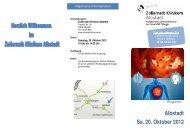 Albstadt Sa. 20. Oktober 2012 - Zollernalb Klinikum gGmbH