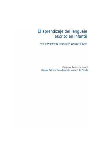 El aprendizaje del lenguaje escrito en infantil.pdf - Cerlalc